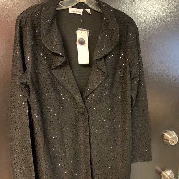 NWT Joan Rivers size medium Black Blazer